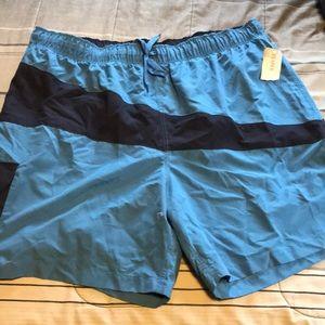 Men's swim trunks navy and light blue xxl